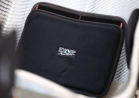 Pad can be attached anywhere in the seat by hook-and-loop fastener.