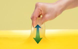 圧力を分散する柔軟性